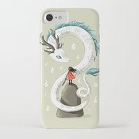 dragon iPhone & iPod Cases featuring Dragon Spirit by Freeminds