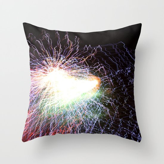 Electric night Throw Pillow