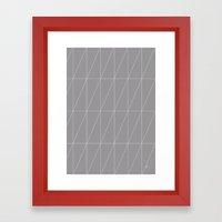 Grey Triangles By Frizti… Framed Art Print
