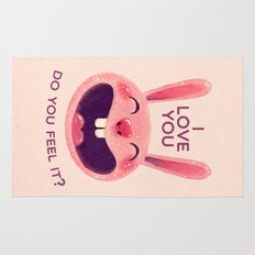 Bunny with love Rug