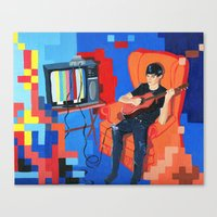 PIXEL BAND Canvas Print