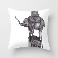 Dali's Dream Throw Pillow