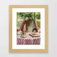 May I be excused? Framed Art Print