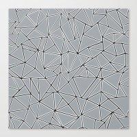 Abstraction Block Grey Canvas Print