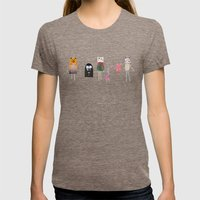 BOO! Womens Fitted Tee Tri-Coffee SMALL