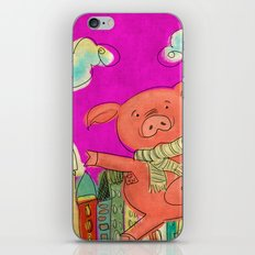 Piggy Pig - magenta iPhone & iPod Skin