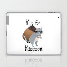 R is for Raccoon Laptop & iPad Skin