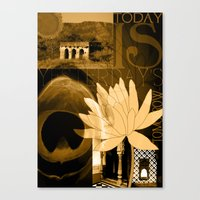 Today Is Yesterday's Tom… Canvas Print