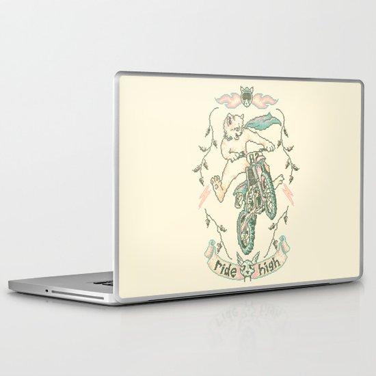 Motocross-Stitch Kitteh Laptop & iPad Skin