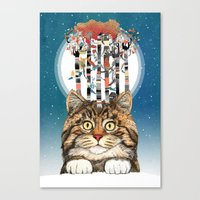 Feline Forest Canvas Print