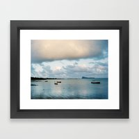 Blue Sunrise Framed Art Print