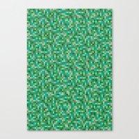 Pixel Art 5 Canvas Print