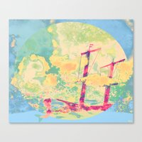 Sail In The Set Canvas Print