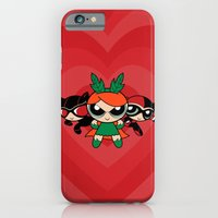 iPhone & iPod Case featuring Supervillain Girls by Mandrie