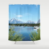 Grand Teton National Park. Landscape photography. Shower Curtain