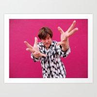 Brock Wilbur September Pink 2 Art Print