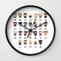 Harry Potter Alphabet Wall Clock