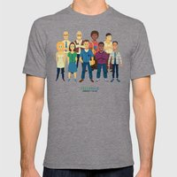 GreenDale Mens Fitted Tee Tri-Grey SMALL