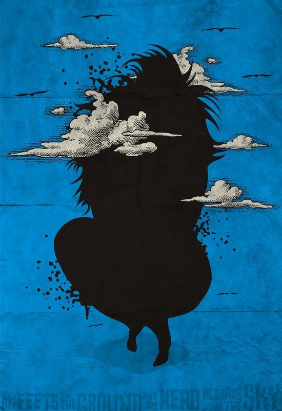 My head always in the sky... Art Print