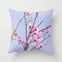 Portuguese Blossoms Throw Pillow
