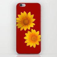 Two Yellow Flowers On Fu… iPhone & iPod Skin