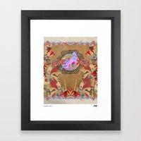 Giddy-Up Fairytale Cowgirl Unicorn Framed Art Print