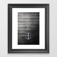 It Is Well Framed Art Print