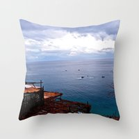 Positano: Amalfi Coast, Italy Throw Pillow