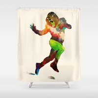 Trophy Pose Shower Curtain