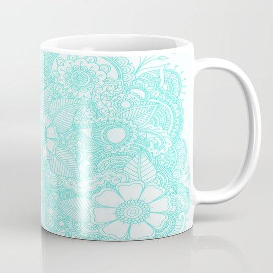 Henna Design - Aqua Mug