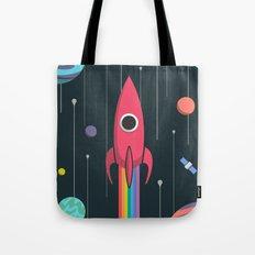Rainbow Rocket Tote Bag