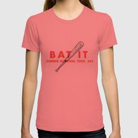 Bat it - Zombie Survival Tools Womens Fitted Tee Pomegranate SMALL