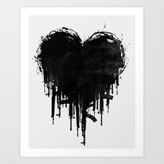 Dark Heart Art Print
