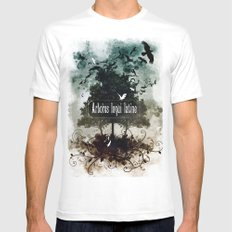 arbores loqui latine Mens Fitted Tee White SMALL