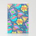 Nineties Dinosaur Pattern Stationery Cards