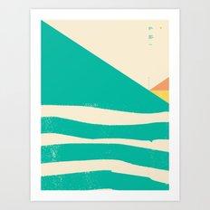 Secret Surf Map 002 — … Art Print