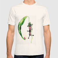 Green Bean Mens Fitted Tee Natural SMALL