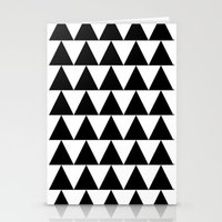 Black and White Triangle By PencilMeIn Stationery Cards