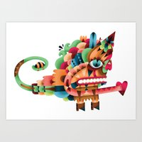 Love Unicorn Art Print
