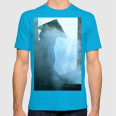 Rice Paper Production Of… Mens Fitted Tee Teal SMALL