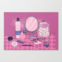Beauty Products Canvas Print