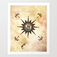 Healing Sun Art Print