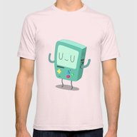 BMO Mens Fitted Tee Light Pink SMALL
