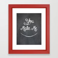 You Make Me Smile - Chalkboard Framed Art Print