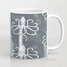 Ghostly Squid Damask Mug
