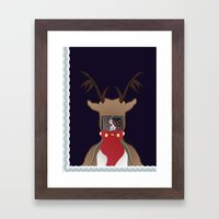 Christmas Card - I Can't… Framed Art Print