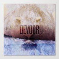 Devour Nature Like A Lion Canvas Print