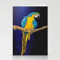 Blue And Yellow Macaw Stationery Cards
