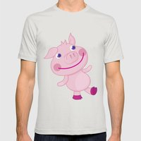 Pigg'o Mens Fitted Tee Silver SMALL