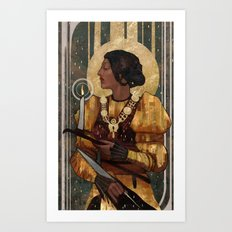 Josephine Montilyet Tarot Card Art Print